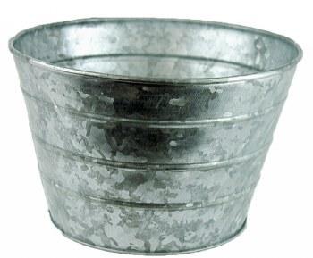 Metal Plant Pot Silver 20cm x 13cm