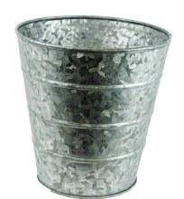 Metal Plant Pot Silver 16cm