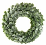 Christmas Door Wreath Frosted Ice 40cm