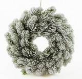 Christmas Door Wreath White Snow 28cm