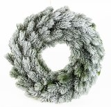 Christmas Door Wreath White Snow 40cm