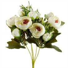 Artificial Flower Ranunculus Bunch x 10 Ivory