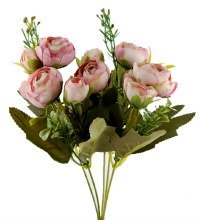 Artificial Flower Ranunculus Bunch x 10 Dusty Pink