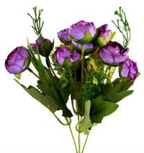 Artificial Flower Ranunculus Bunch x 10 Purple