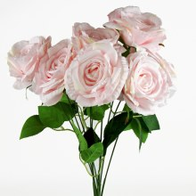 Artificial Rose Bunch x 9 Heads Pink