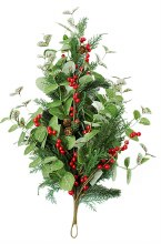 Christmas Artificial Red Berry Teardrop 28""