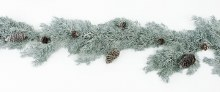 Christmas Spruce Pine Cone Garland- Silver 5ft