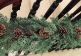 Christmas Spruce Pine Cone Garland Green 5ft