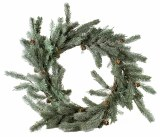 Christmas Pine Cone Wreath 24""