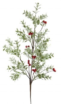 Artificial Frosted Christmas Berry Stem 30""