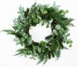 Christmas Door Wreath Blueberry/Eucalyptus ""