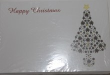 Merry Christmas bauble tree florist cards small x 50