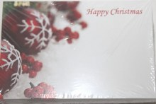Merry Christmas red baubles florist cards small x 50