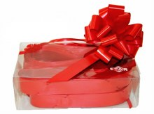 Box of 30 red 31mm ribbon pullbows-P00