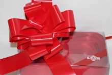 Ruby red pullbows 50mm x 20pcs