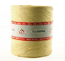 Poly raphia ribbon ivory 200m