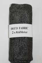 Silver/black decorative mesh fabric, 2 x 1.5m