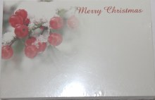 Merry Christmas berries florist cards small x 50