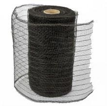 Decor Mesh Fabric Black 15cm x 10Yards