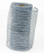 Decor Mesh Silver 15cm x 10Yards