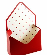 Envelope Flower Box Red x 10