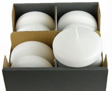 Floating Candles Large White x 8 Pcs
