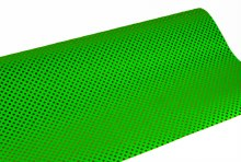 Gift Wrapping Paper Dot/ Stripe 70cm x 10m Green/ Gold