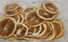 Dried grapefruit slices yellow