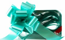 Pull Bow Ribbon 50mm x 20Pcs Aqua