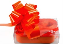 20 x Orange Pull Bows 50mm
