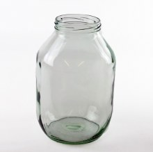 Glass Clear Pickle Jar Half Gallon