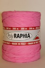 Poly raphia ribbon pink 200m