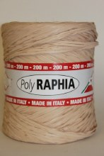 Poly raphia ribbon natural 200m