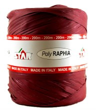 Poly Raphia Ribbon 200m Burgundy