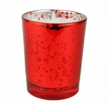 Tealight Holder With Candle Red 6cm