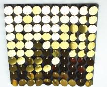 Sequin Wall Panel Gold 30cm x 30cm
