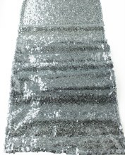 Sequin Table Runner Silver 30cm x 275cm