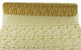 Decor Mesh Spider Glitter Gold 50cm x 5 Yards