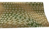 Wrapping Paper Star Gold/ Green 70cm x 10m