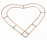 "Wire Open Heart 12"" x 20pcs"