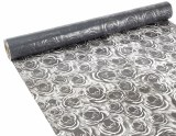Florist Cellophane Wrap Rose Grey 80cm x 90m