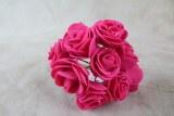 Mini Foam Rose Fuchsia 2.5cm