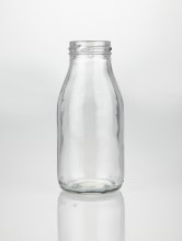 Glass Milk Bottle Large 20cm