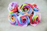 Rainbow Foam Rose Bunch 5.5cm x 6