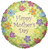 Happy Mothers day yellow foil balloon