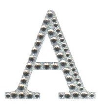 Large Diamante Letter Stickers A