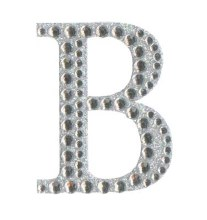 Large Diamante Sticker Letter B