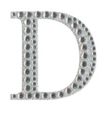 Large Diamante Sticker Letter D