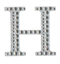 Large Diamante Letter Sticker H