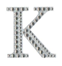 Large Diamante Letter Sticker K